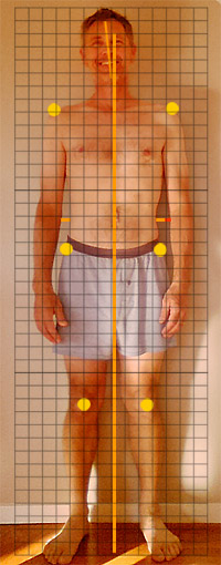posture self evaluation - front view